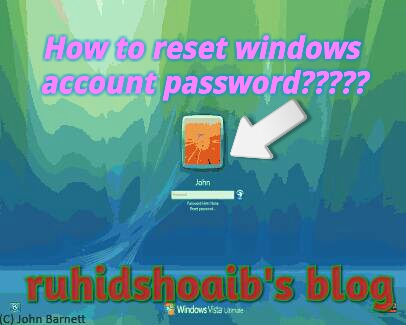 how to change windows password if you forgot it