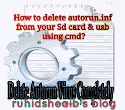 How to delete autorun inf file from your SD card & Usb using